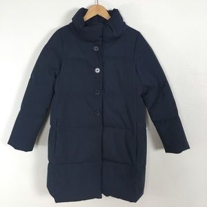 Kate Spade Funnel Neck Puffer Coat Navy Blue Small